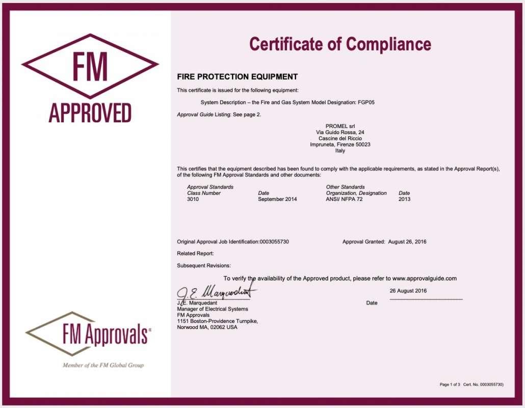 Scarica il PDF. FM-CERT-FGP05S